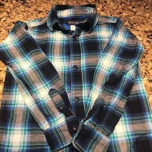 Adorable Little Boys Plaid look Shirt